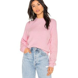 Free People Too Good Mock-Neck Candy Pink Sweater
